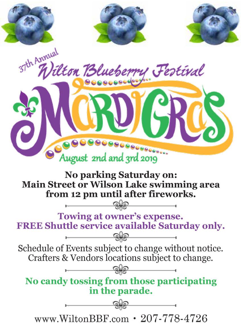 37th Annual Wilton Blueberry Festival - Town of Wilton, Maine