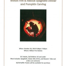 Wilton Fire & Rescue Spaghetti Dinner and Pumpkin Carving