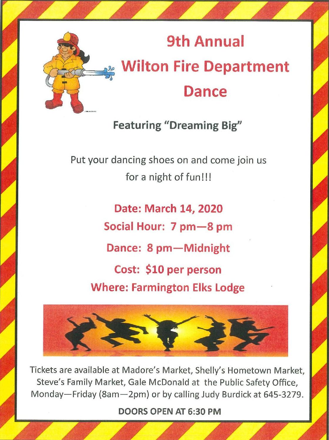 9th Annual Wilton Fire Department Dance