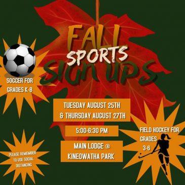 Fall Sport Sign-Ups