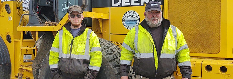 Left: Evan Jones Right: Walter Moody, Transfer Station Manager